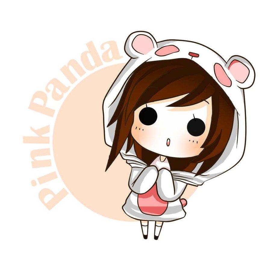 Pink Panda by nasikepal 870x918