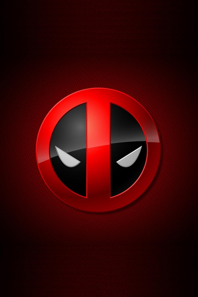 Deadpool logo   Download iPhoneiPod TouchAndroid Wallpapers 640x960