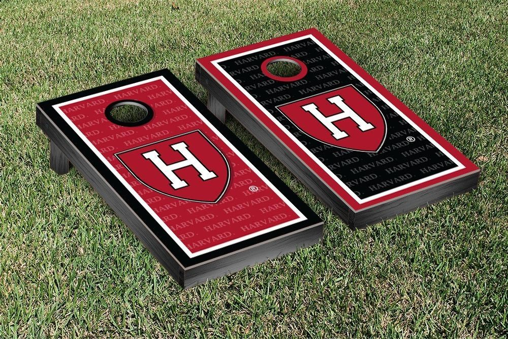 Harvard Crimson Repeat Logo Wallpaper Cornhole Set Products 1000x667