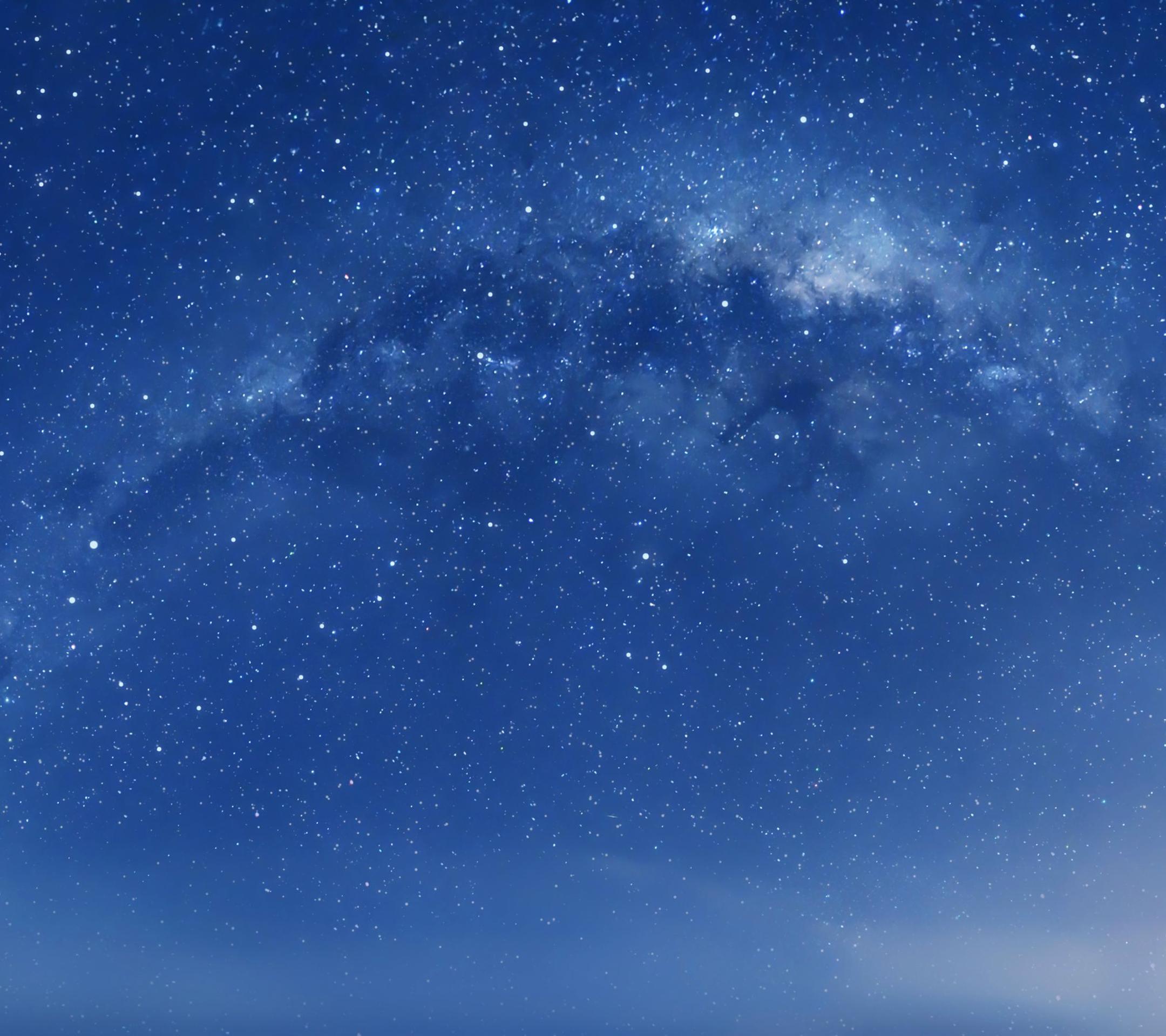 Apple iOS 8 Default Milky Way Galaxy Desktop Wallpaper 2160x1920