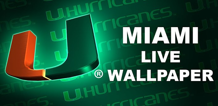 Miami Hurricanes Football Logo Wallpaper Miami canes live wallpaper hd 705x344