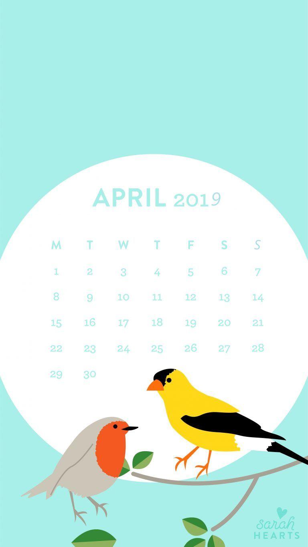April 2019 Blue Moon Calendar Wallpaper april2019 wallpaper in 768x1365