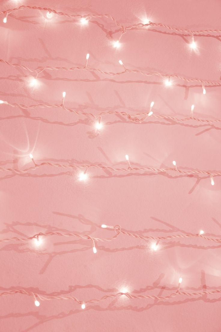 Lights Pink Christmas Wallpaper 736x1104