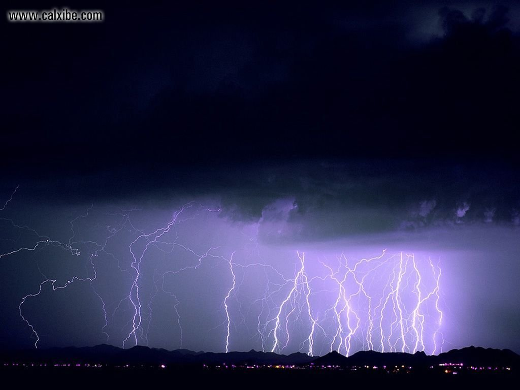 Nature Multiple Lightning Strikes picture nr 17703 1024x768