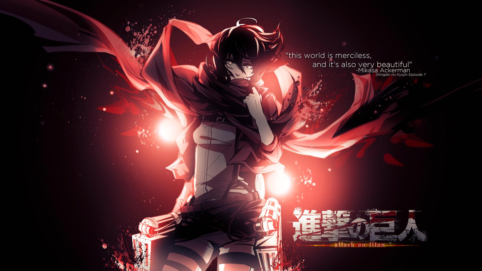 Shingeki no Kyojin Attack on titan images Shingeki no Kyojin [Mikasa 1920x1080