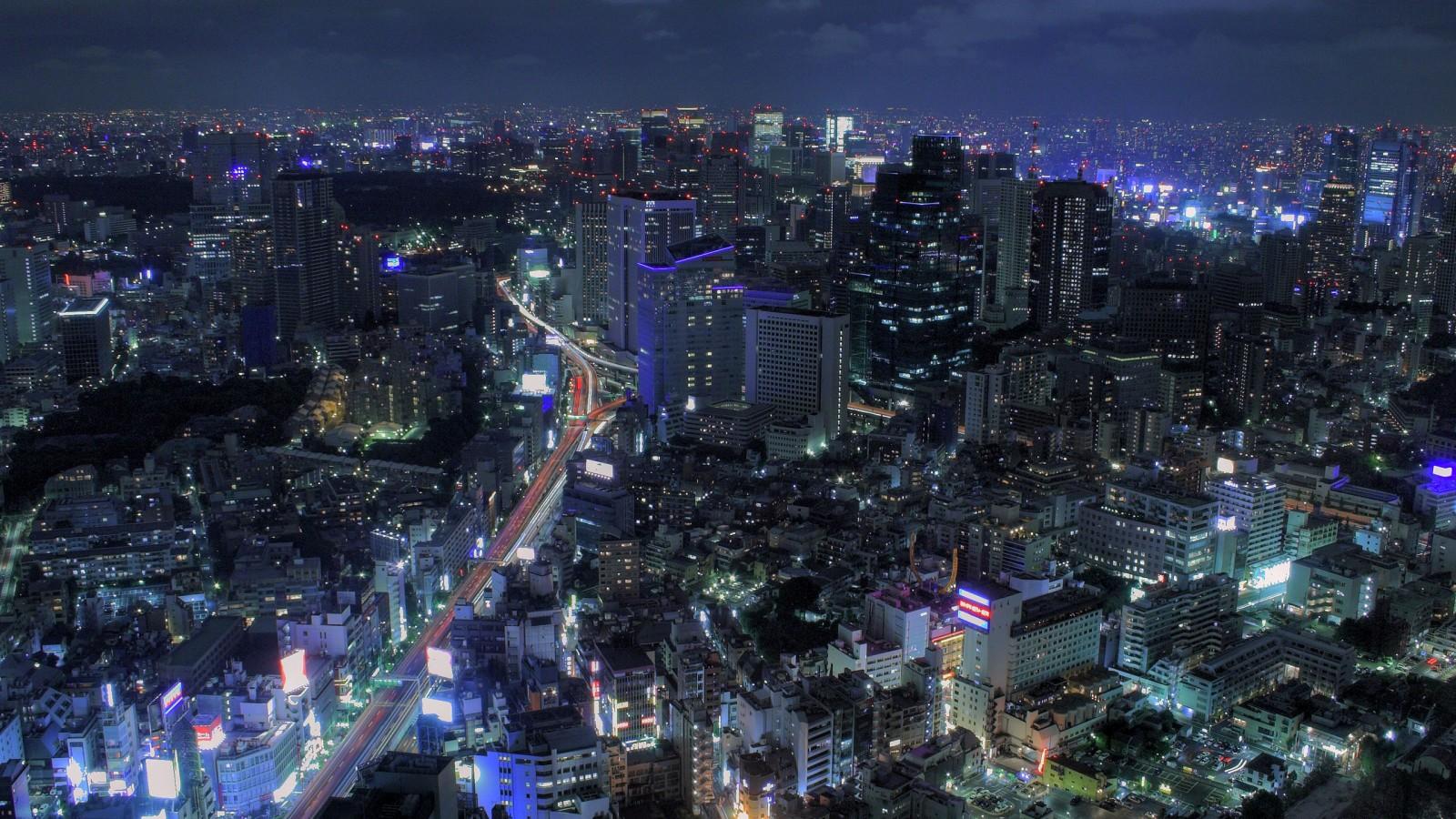 Night In Tokyo Wallpaper HD 14200 Wallpaper Wallpaper hd 1600x900