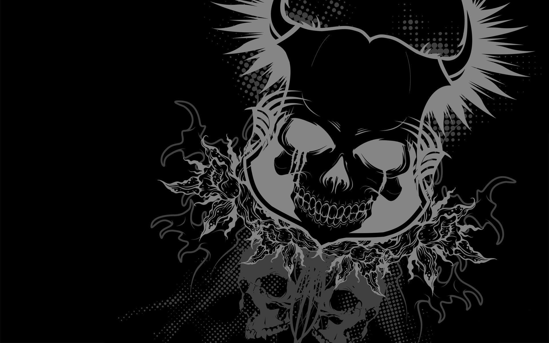Horned Skull desktop wallpaper 1920x1200