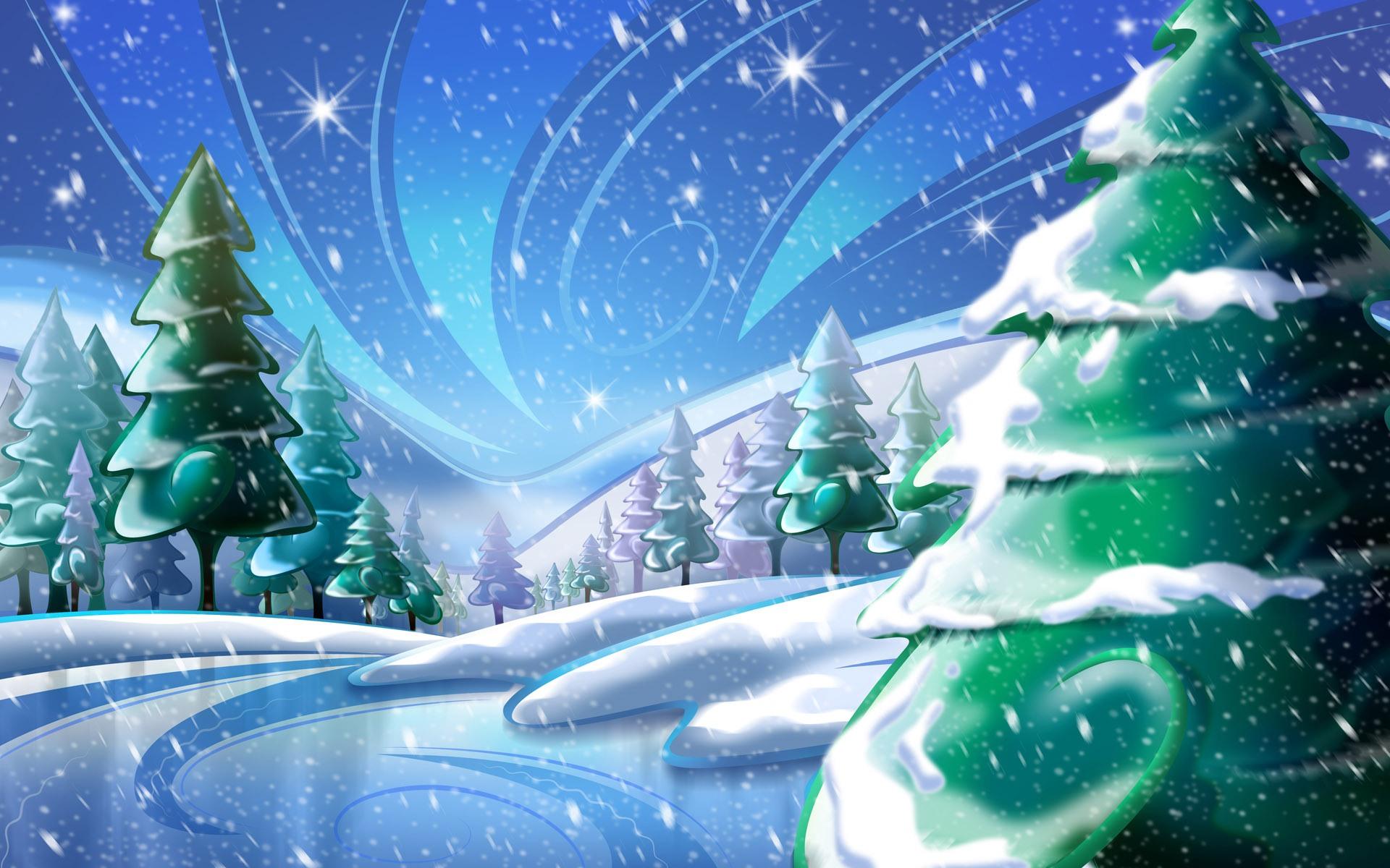 winter trees pine background wallpaper original 1920x1200 1920x1200