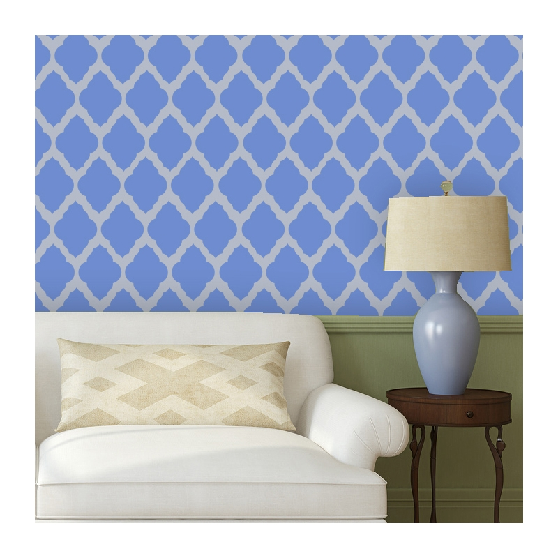Wall Stencil Marrakech Trellis Long Reusable Stencils For Diy Decor 800x800