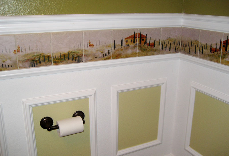 pink wallpaper web Bathroom Borders 800x545