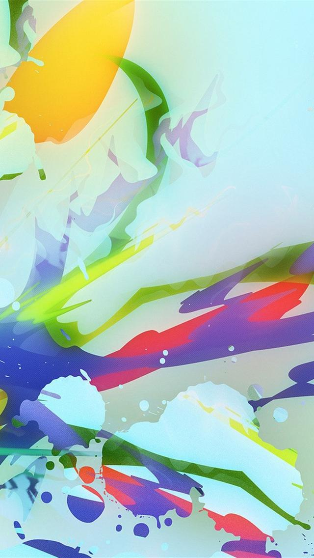 Colorful Blots iPhone 5 Wallpaper HD 640x1136