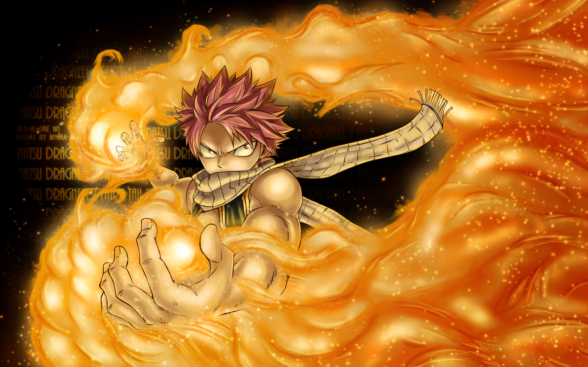 natsu dragneel fire flame fairy tail anime hd wallpaper image picture 1920x1200