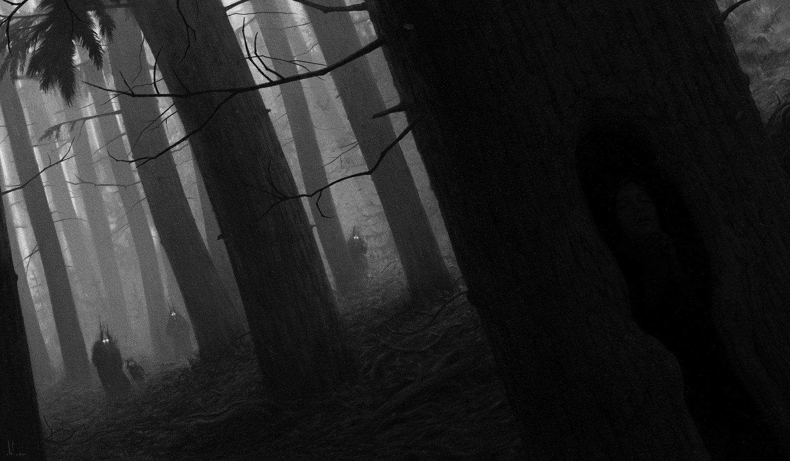 Dark scary forest wallpaper wallpapersafari - Dark horror creepy wallpapers ...