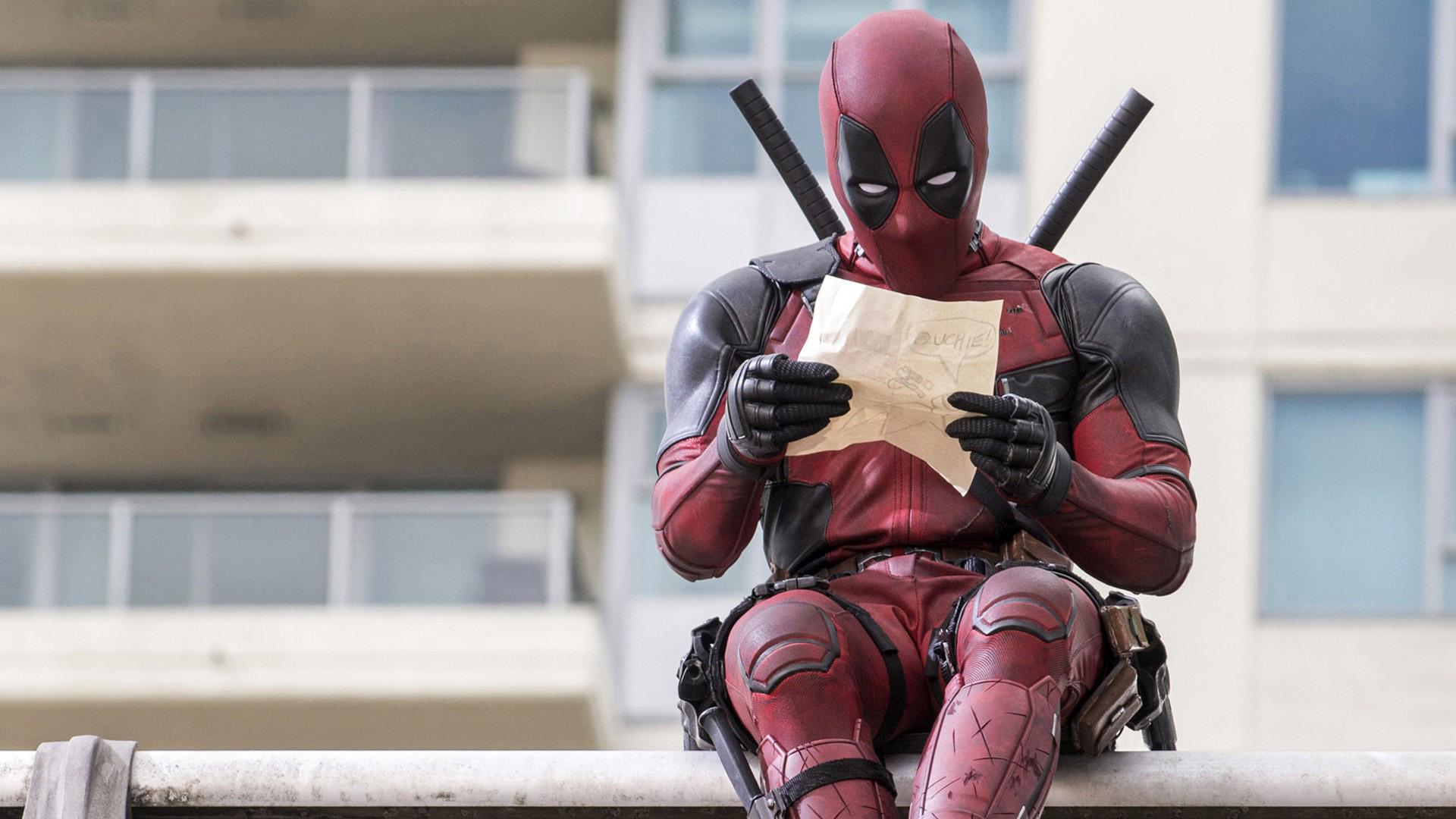 Deadpool Reading Screenshot Movie 2016 Wallpaper HD 1920x1080