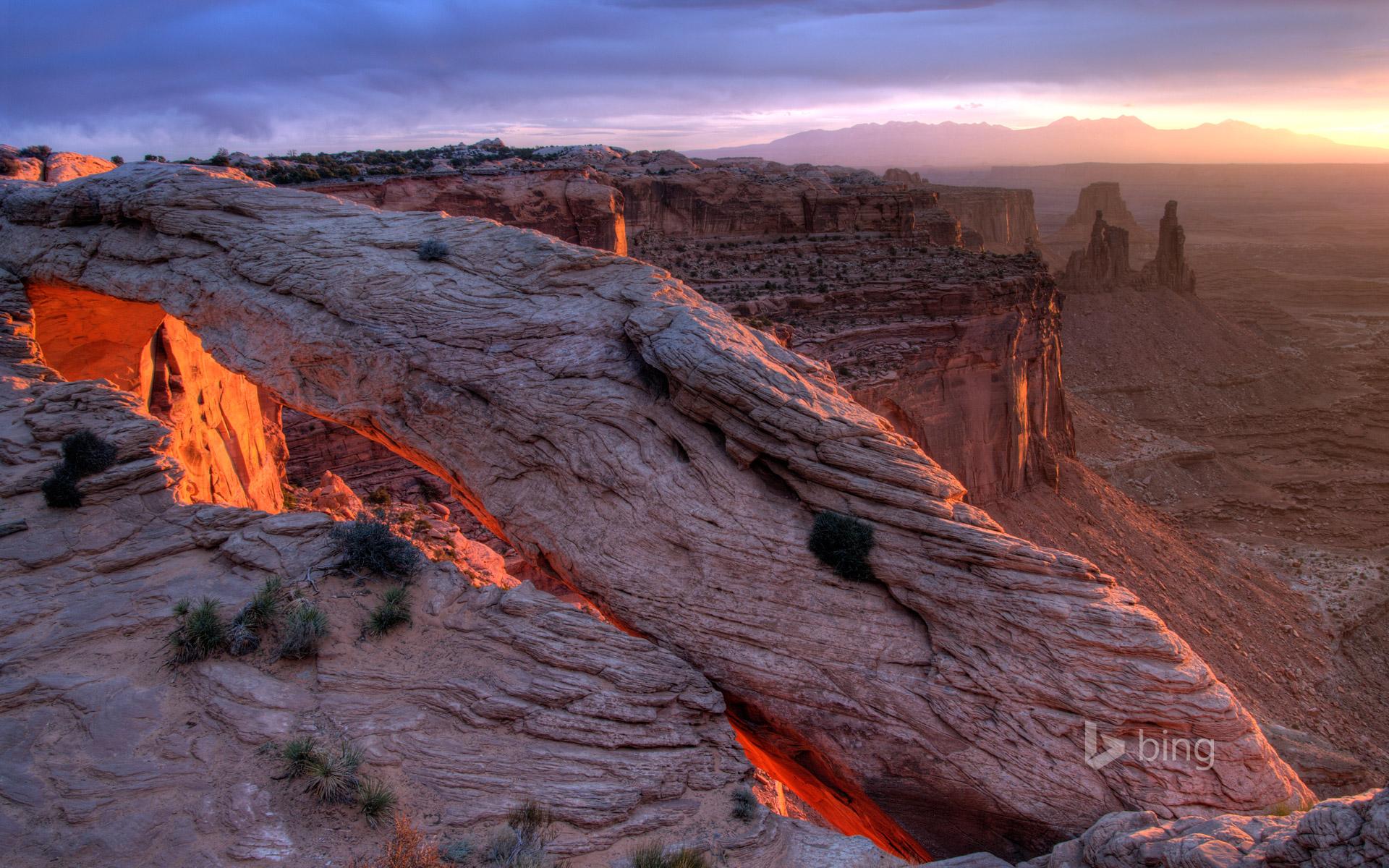 Mesa Arch Canyonlands National Park Utah HD Bing Wallpaper Archive 1920x1200