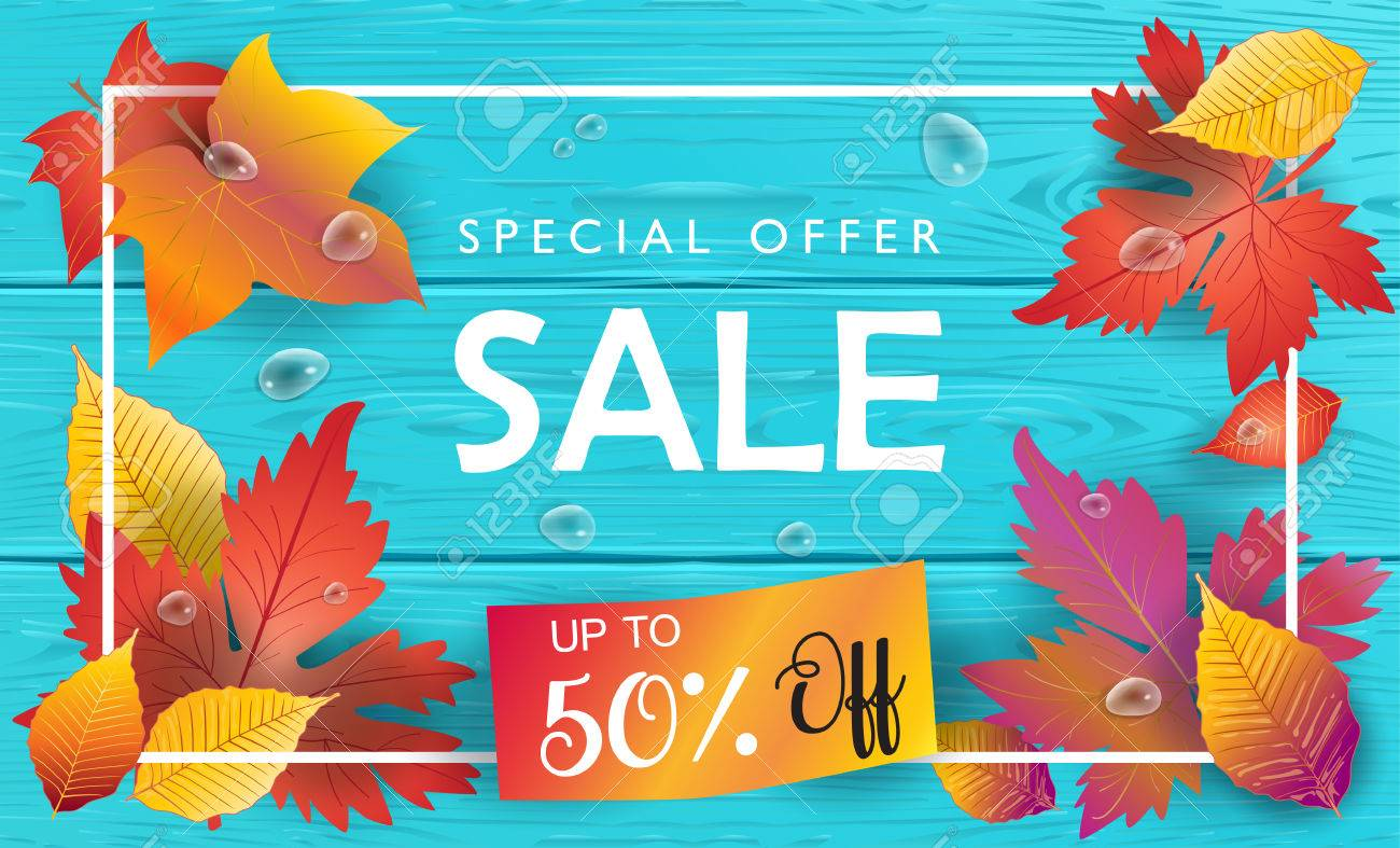 Autumn Sales Sale Discount Wallpaper Fall Poster With Autumn 1300x787