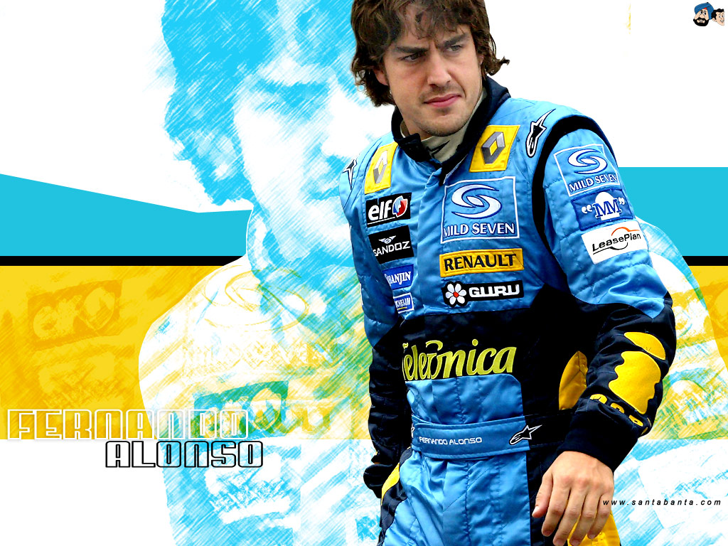 Fernando Alonso Renault Wallpapers gratis   Imagenes 1024x768