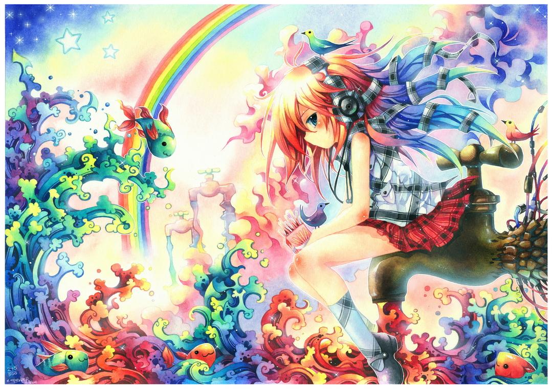 Image Result For Anime Wallpaper Rainbowa