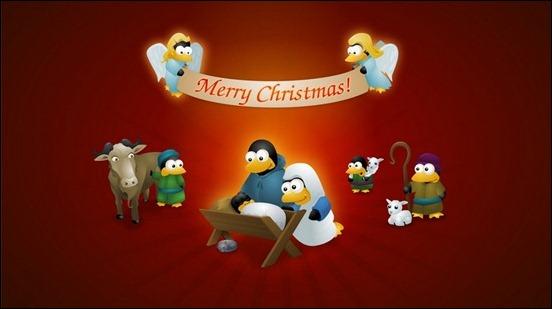 Cute Christmas Cartoon Wallpaper Cute Cartoon Christmas Penguin 552x309