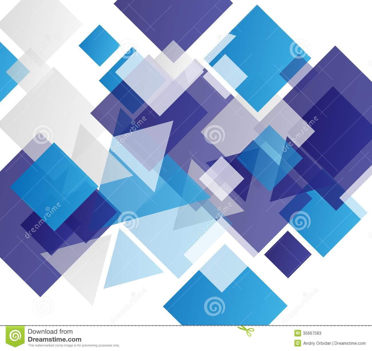 Stock Photos Blue modern geometric abstract background 1300x1226