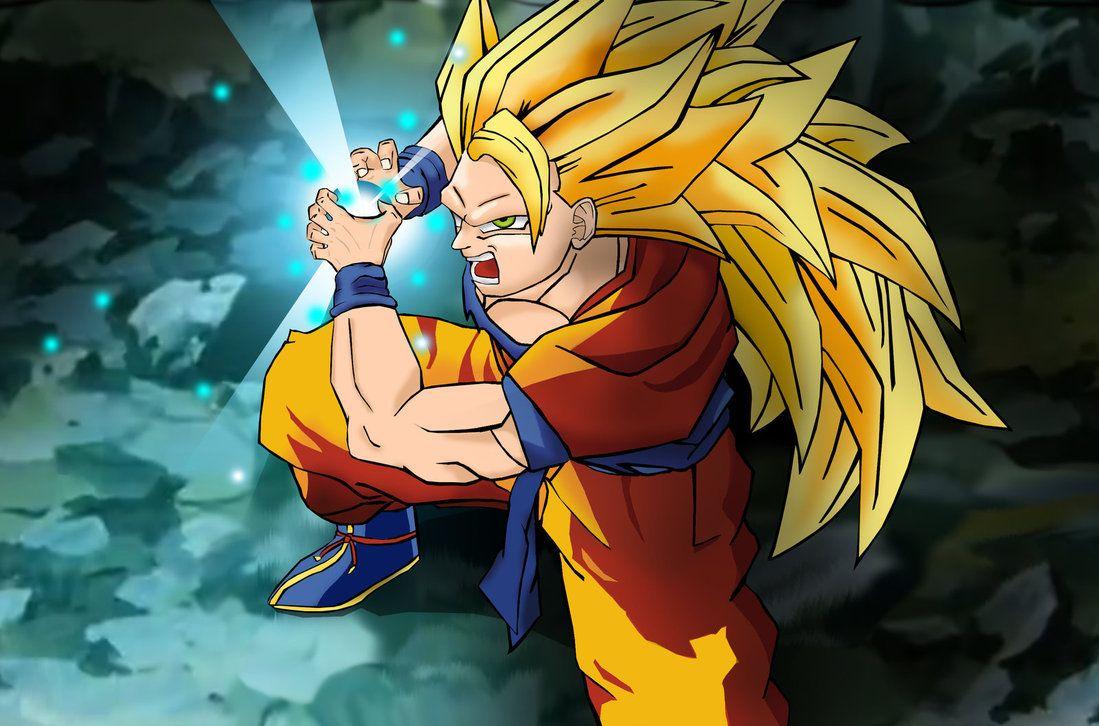 Images For Super Saiyan Goku Kamehameha Wallpaper 1099x726