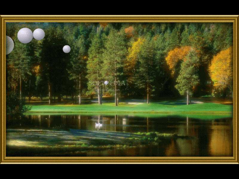 Replace your old boring screensaver with these beautiful golf course 800x600