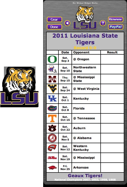 Printable LSU Football Schedule 2014 515x760
