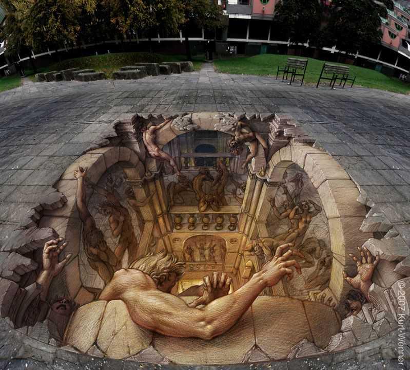 Graffiti Street Art 3d Hell Wallpaper 2084 Hd Wallpapers 2680 2591 799x720