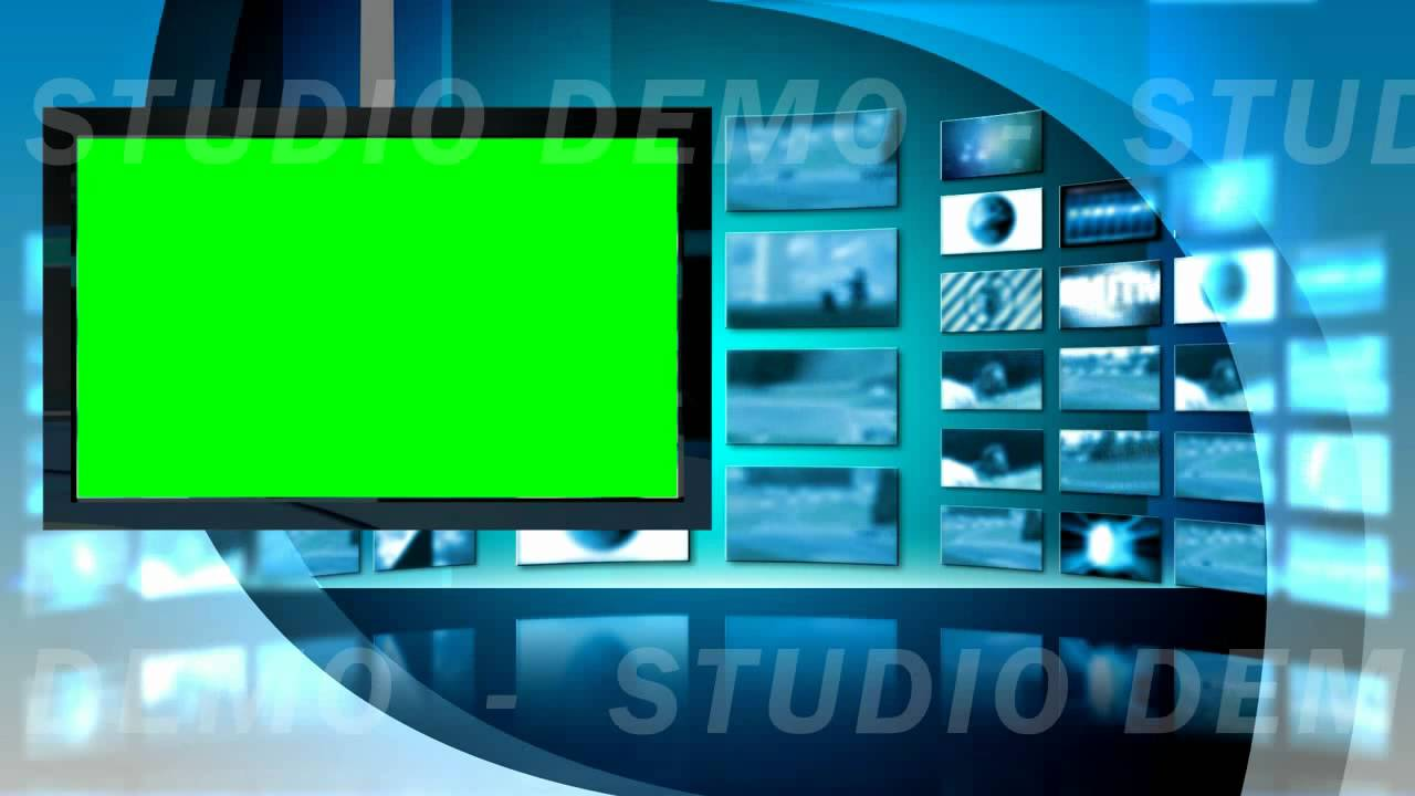 Green Screen Video Background   Virtual Set 8 Left Animated 1280x720