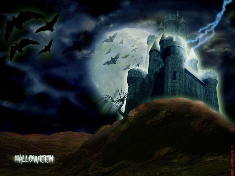 Haunted House   Halloween Wallpaper 250821 800x600