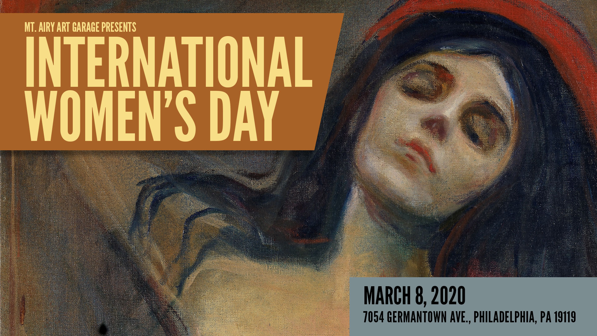 Call for Artists International Womens Day 2020 Mt Airy Art Garage 1920x1080