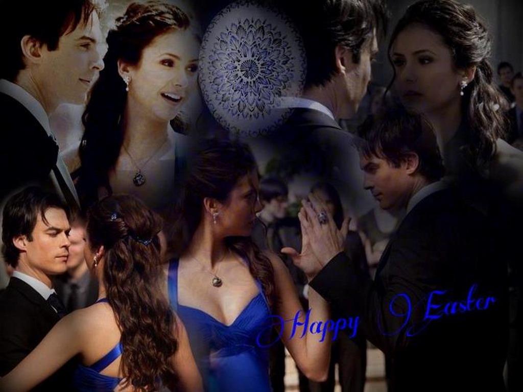 Elena Damon   The Vampire Diaries Wallpaper 31117412 1024x768