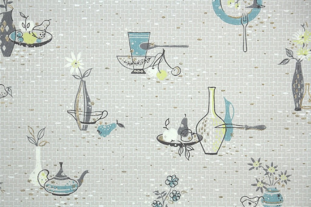 1950s Kitchen Vintage Wallpaper Hannahs Treasures Vintage 1024x682