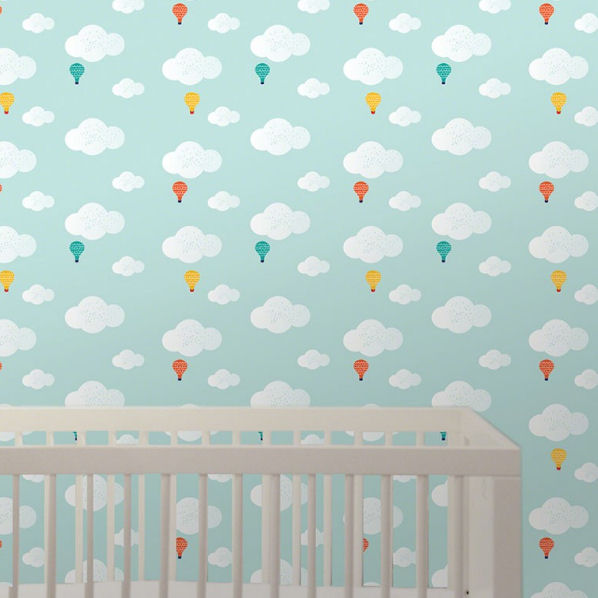 Wee Gallery Baloons Peel Stick Wallpaper   Wall Sticker Outlet 598x598