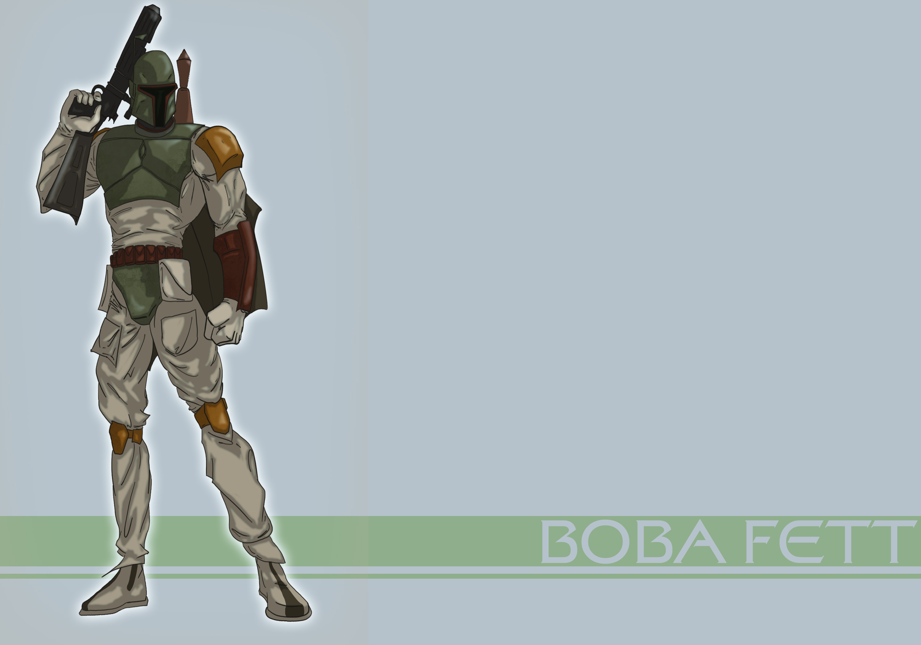 The best Boba Fett wallpaper ever Character wallpapers 3000x2100