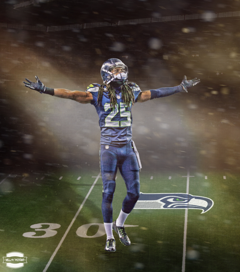 Richard Sherman Wallpaper by NewtDesigns 802x908
