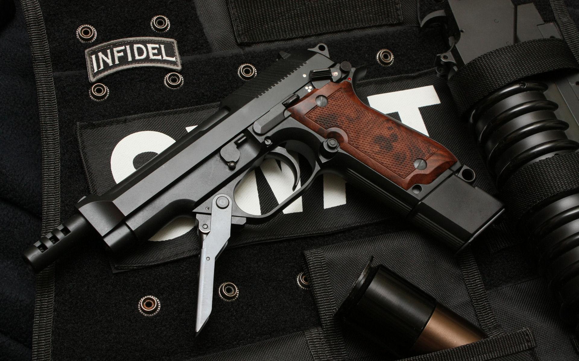 Guns SWAT Wallpaper 1920x1200 Guns SWAT Weapons Handguns Beretta 1920x1200