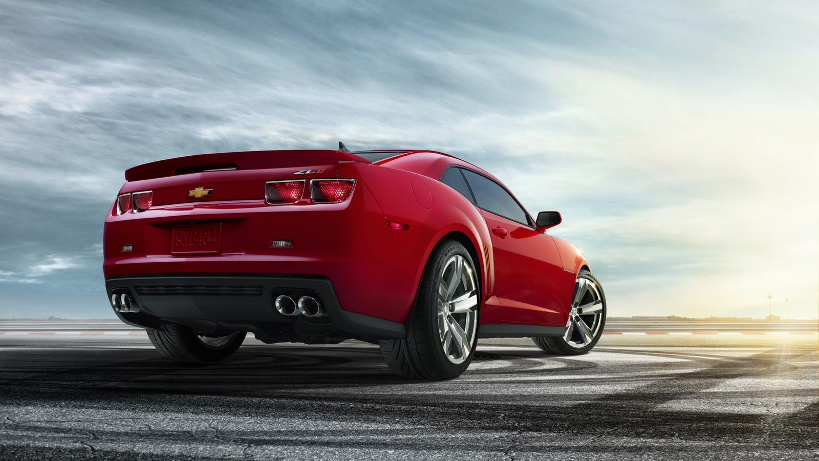 Central Wallpaper Chevrolet Camaro ZL1 Red HD Wallpaper 1600x900