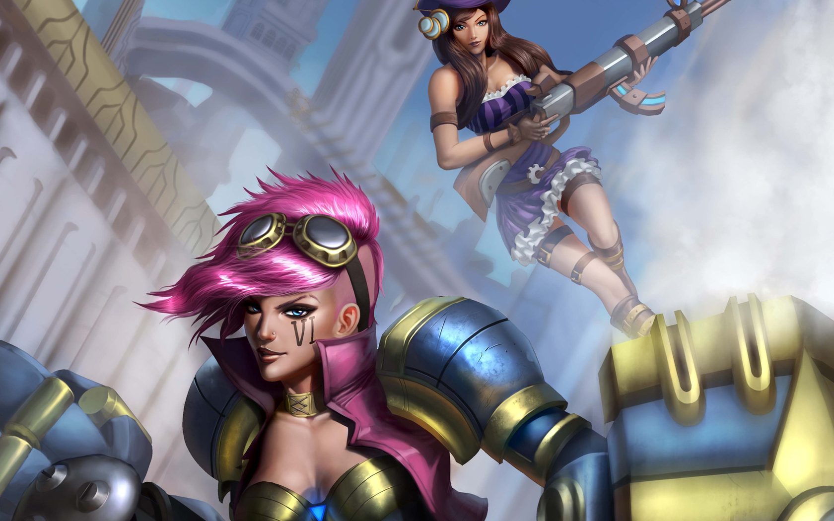 Free Download Caitlyn And Vi In League Of Legends Wallpaper 40457
