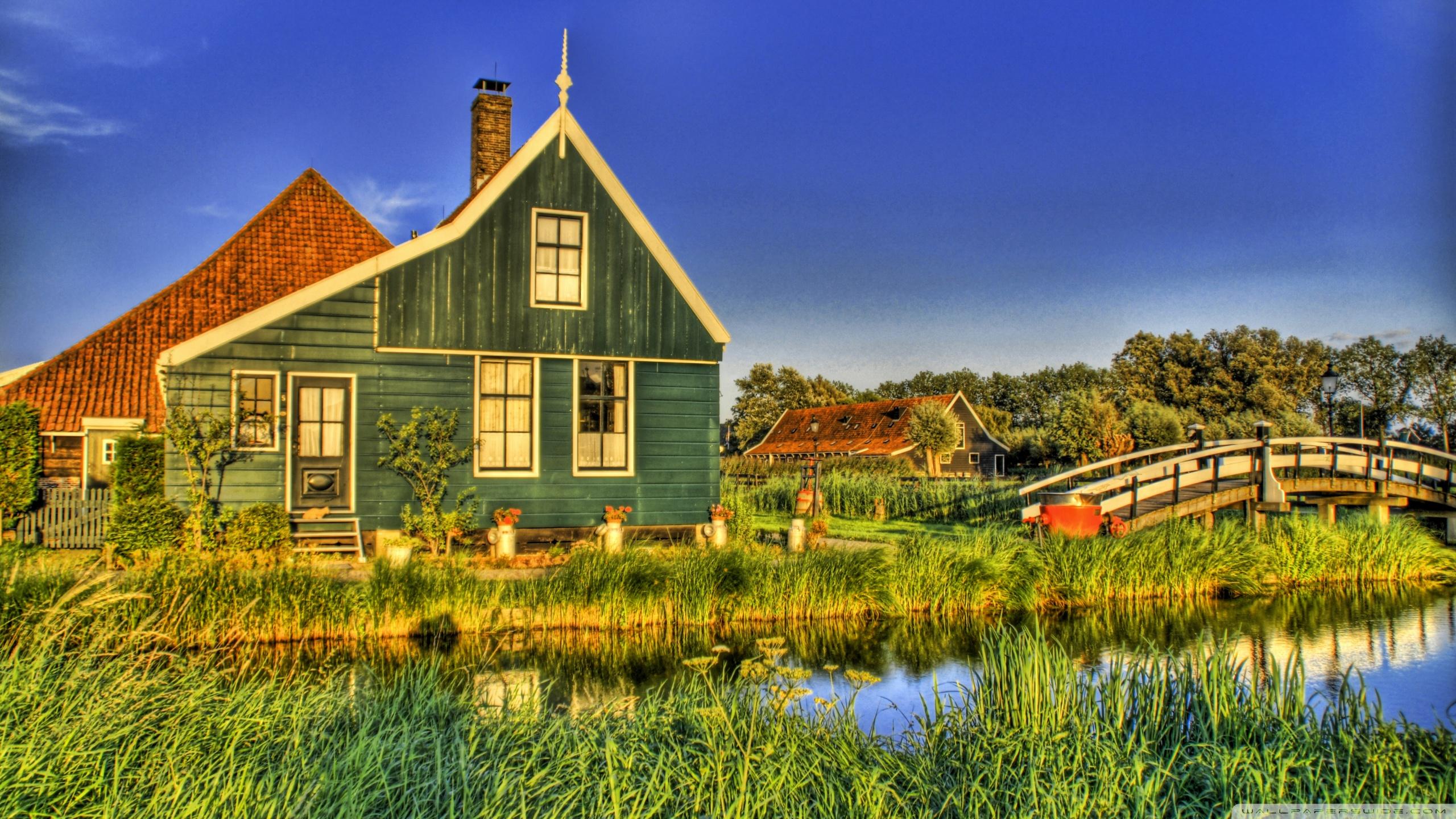 Holland Farmhouse 4K HD Desktop Wallpaper for 4K Ultra HD TV 2560x1440
