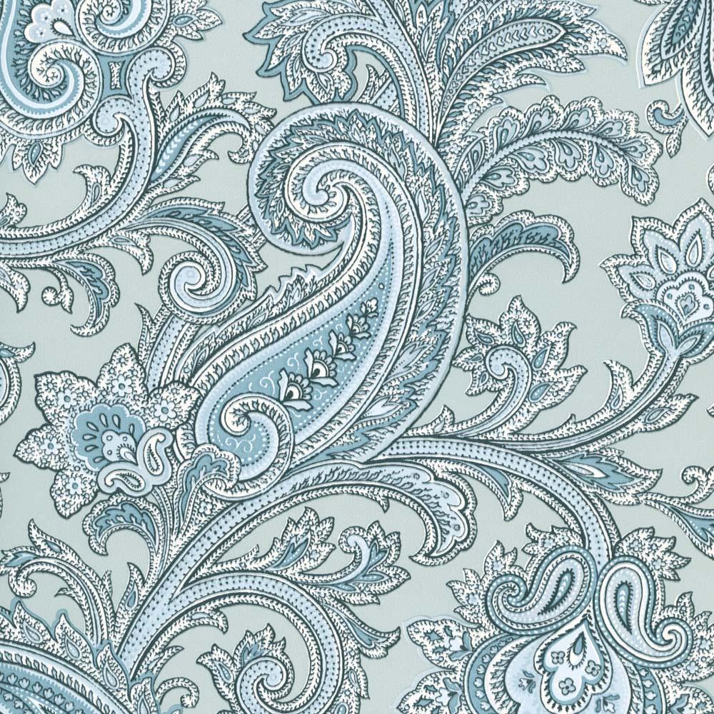 Blue Paisley Pattern Blue paisley swirl wallpaper 1000x1000