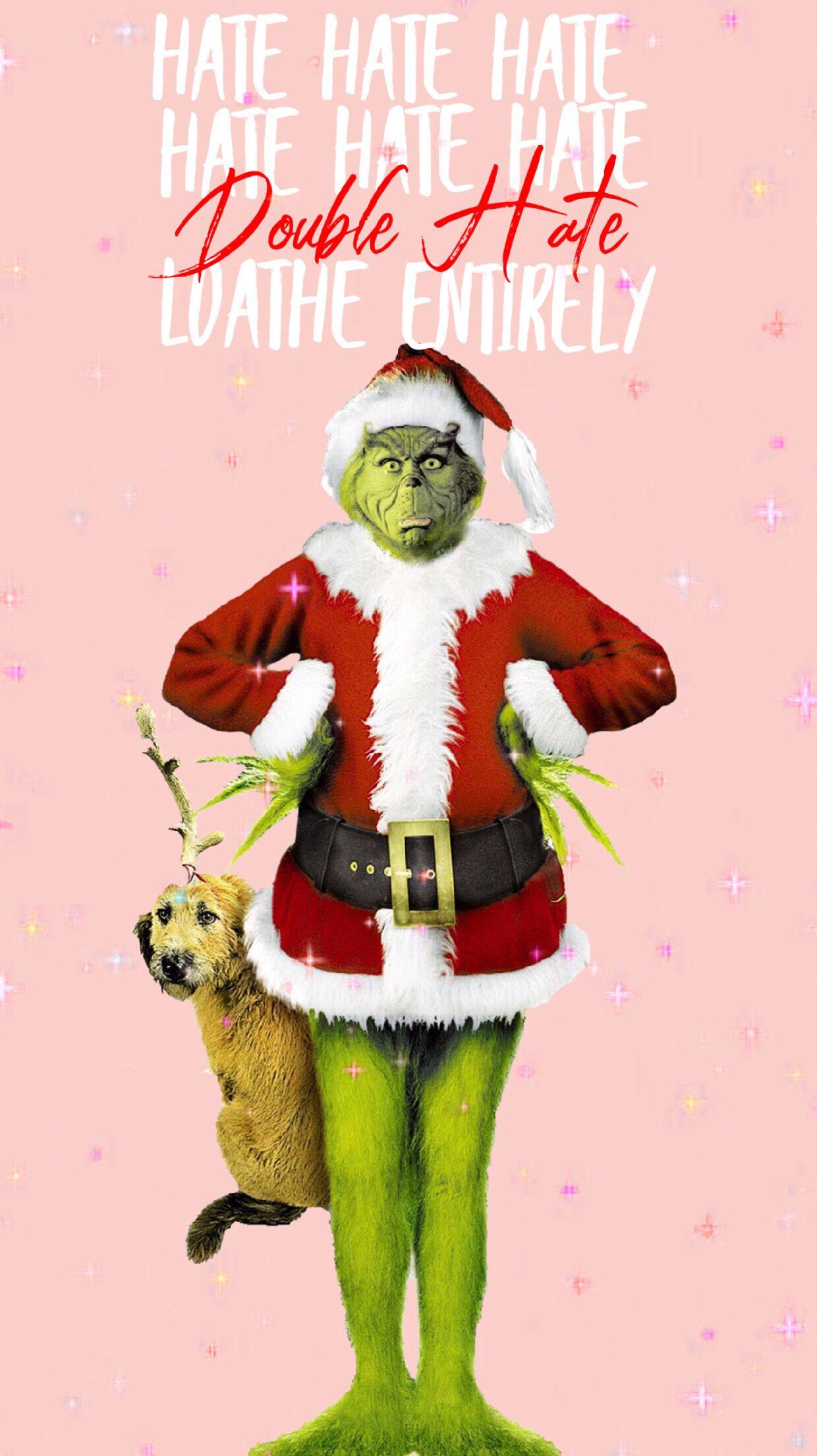 Grinchiest Christmas Wallpaper Save Set Funny christmas 1240x2208