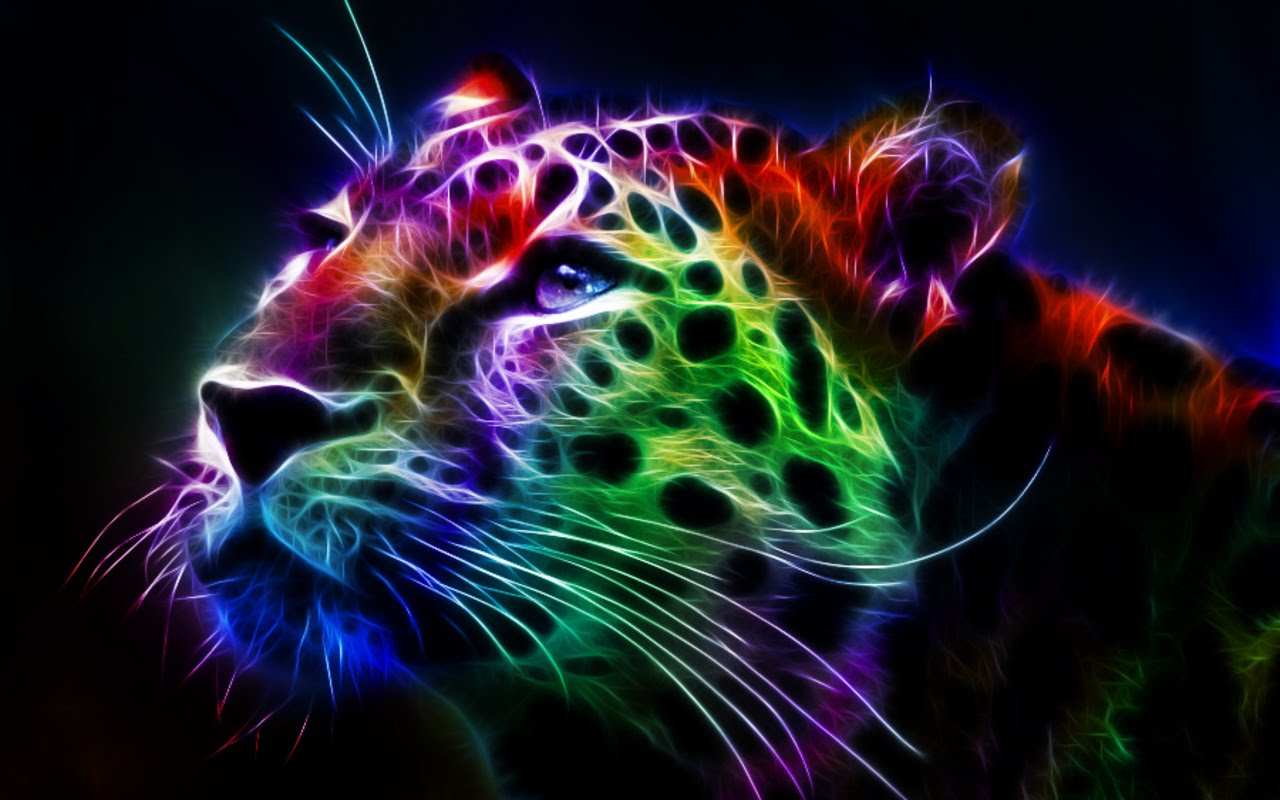 Fractal Leopard hd desktop backgrounds HD Wallpaper 1280x800