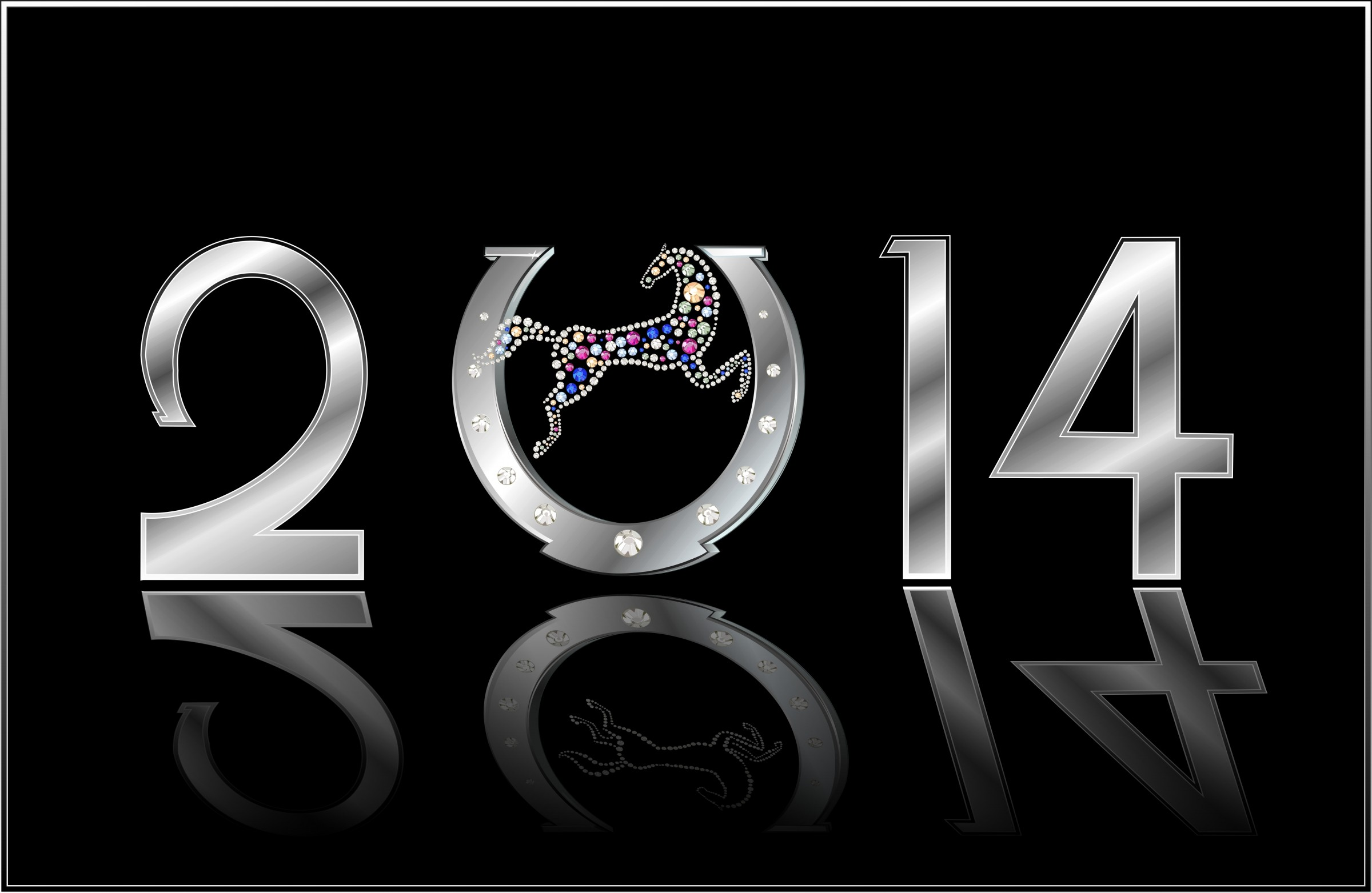 Happy New Year 2014 Wishes Wallpaper 2865   Ongur 2400x1563