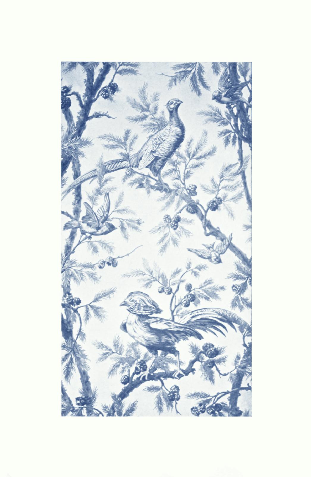 Lulu Gone Mad Beautiful Bleu Vintage French Wallpaper Design 1046x1600