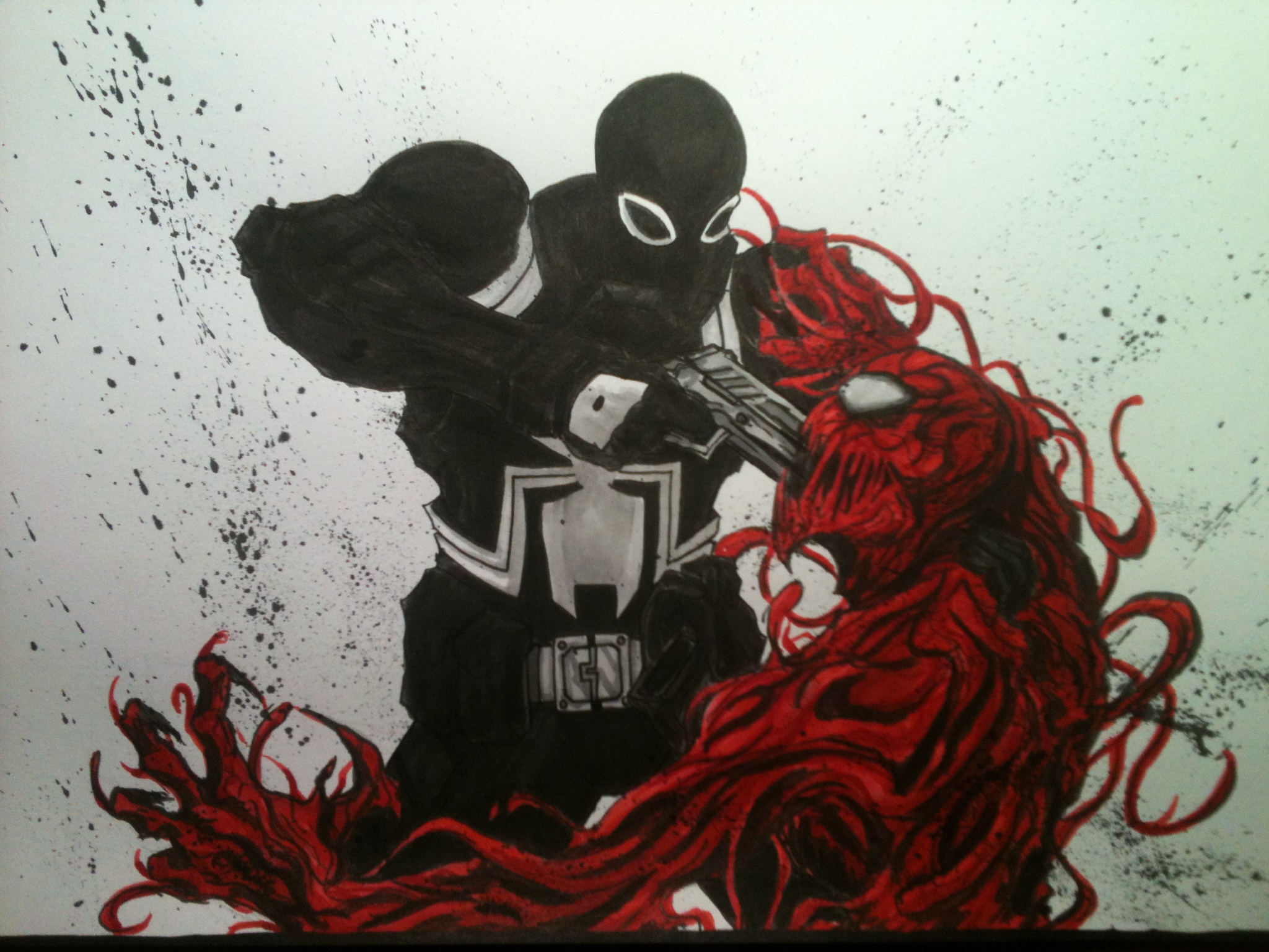 Agent Venom vs Carnage by LeeChandler 2048x1536