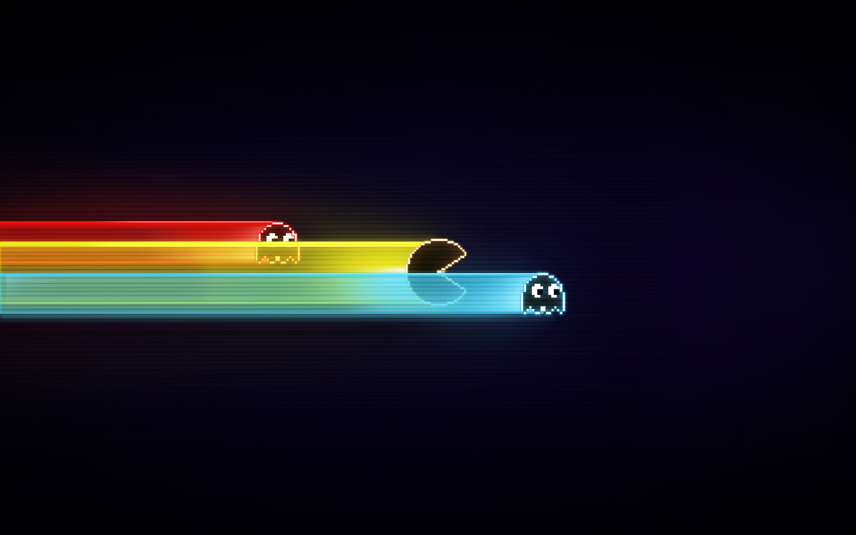 pac man screensaver image background tron style 1680x1050