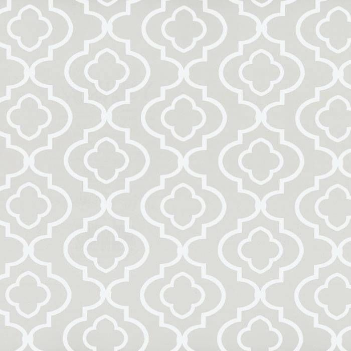 Wallpaper Contemporary White Trellis on Putty Gray Background 700x700