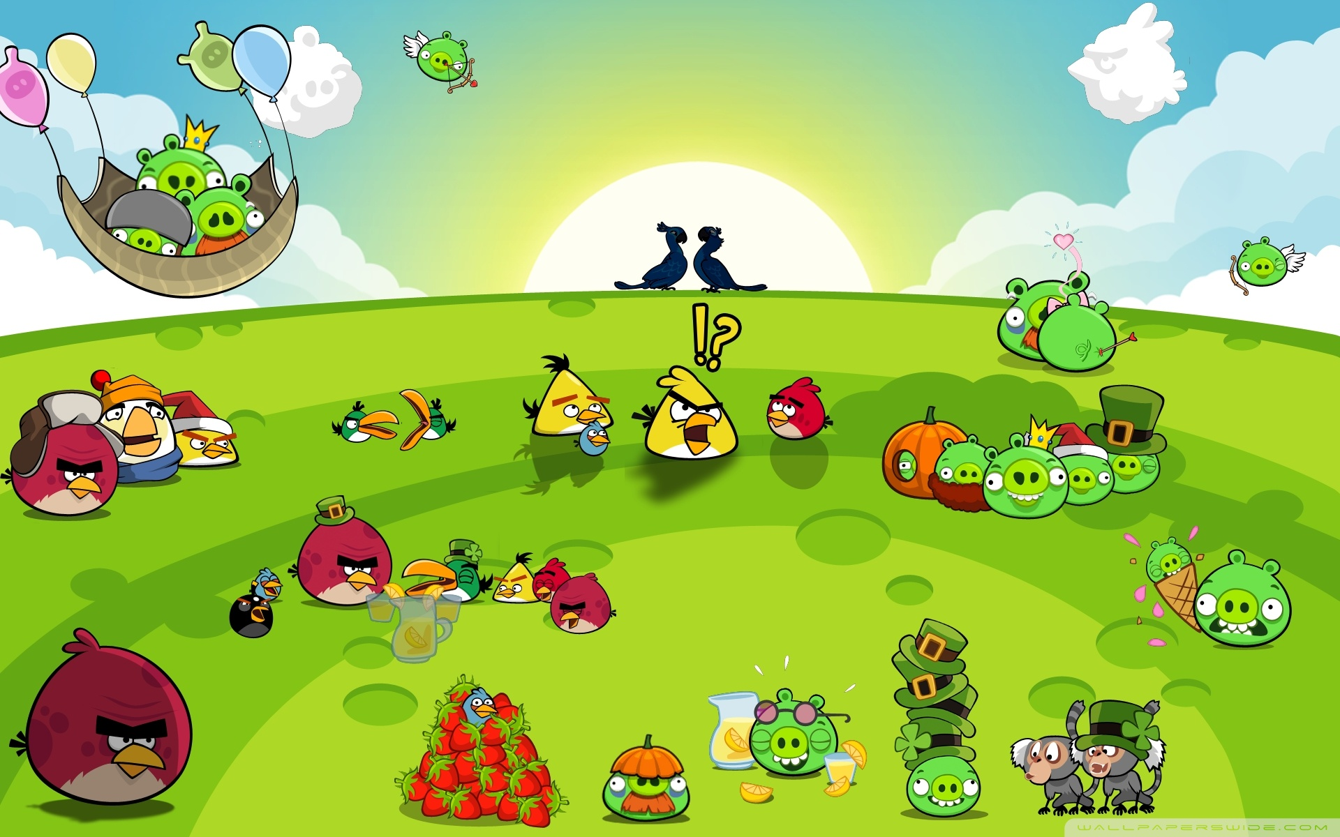 Download Angry Birds Hd Widescreen Wallpaper Full HD Wallpapers 1920x1200
