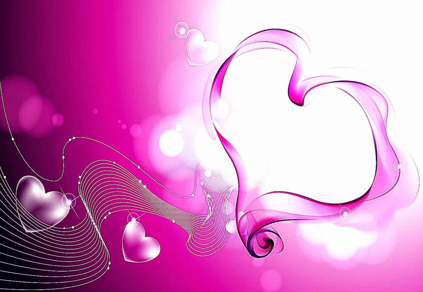 Pink Love Hearts Smoke Wallpapers HD Wallpapers 1444x997